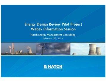Energy Design Review Presentation [pdf, 598 KB] - Hatch