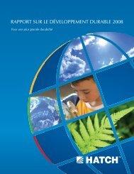 Rapport Sur Le Developpement Durable 2008 [pdf, 1.15 MB] - Hatch