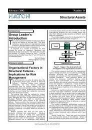 Structural Assets Newsletter #14, February 2002 [pdf, 203 KB] - Hatch