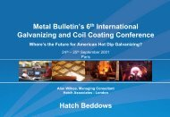 Galvanizing and Coil Coating Conference - Hatch