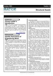 Structural Assets Newsletter #16, October 2002 [pdf, 322 KB] - Hatch