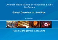 Presentation: Global Overview of Line Pipe [pdf, 618 KB] - Hatch