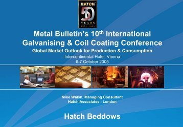 Galvanising & Coil Coating Conference - Hatch