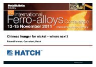 Chinese hunger for nickel – where next? - Hatch
