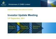 Investor Update Meeting 13th September 2011 - Hatfield Philips