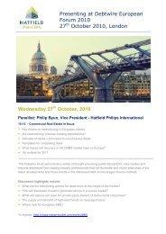Philip Byun speaks at Debtwire European Forum - Hatfield Philips