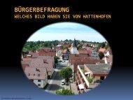 Präsentation der Bürgerumfrage - Hattenhofen