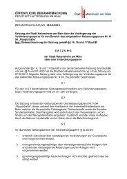 ÖFFENTLICHE BEKANNTMACHUNG - Stadt Hattersheim