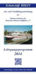Lehrgangsprogramm 2014