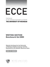 Writing section Benchmark set 2009 - Hellenic American Union