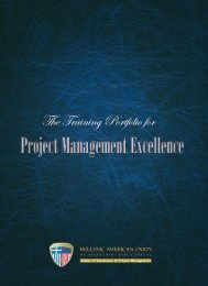The HAU Center of Excellence in Project Management - Hellenic ...