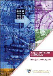 English for Finance and Banking - Hellenic American Union