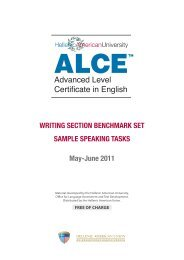 Advanced Level Certificate in English - Hellenic American Union