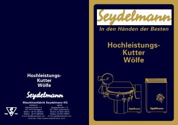 Hochleistungs- Kutter Wölfe - Hauenstein Fleischereimaschinen ...
