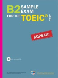 Sample Exam for the Toeic ® Test - Hellenic American Union
