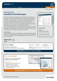 Factsheet Dienstleistungen - Mediadaten Haufe Lexware