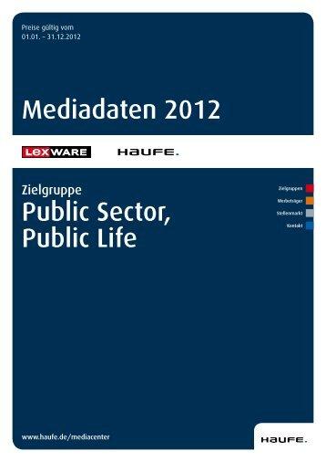 Mediadaten Public Sector und Public Life 2012 - Mediadaten Haufe ...