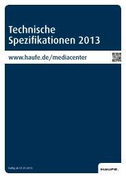 Technische Spezifikationen 2013 - Mediadaten Haufe Lexware