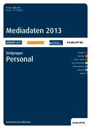 Mediadaten 2013 Personal - Mediadaten Haufe Lexware