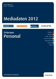 Mediadaten 2012 Personal - Mediadaten Haufe Lexware