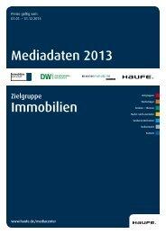 Mediadaten 2013 Immobilien - Mediadaten Haufe Lexware