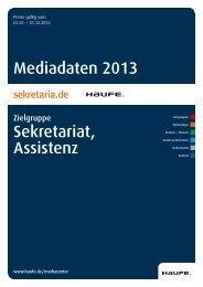 Sekretariat und Assistenz 2013 - Mediadaten Haufe Lexware
