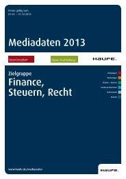 Mediadaten 2013 Finance, Steuern, Recht - Mediadaten Haufe ...