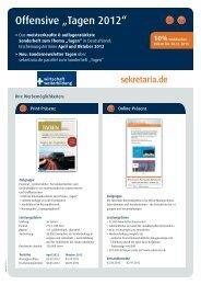 Secretaria_Factsheet Tagen 2011 Print Online.indd - Mediadaten ...