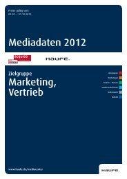 Mediadaten Marketing und Vertrieb 2012 - Mediadaten Haufe ...