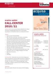 CALL-CENTER 2010/11 - Mediadaten Haufe Lexware