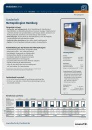 Sonderheft Metropolregion Hamburg - Mediadaten Haufe Lexware