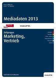Mediadaten Marketing, Vertrieb 2013 [PDF, 5,2 MB]