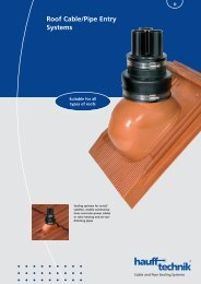 Roof Cable/Pipe Entry Systems - hauff technik