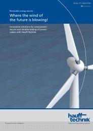 Brochure field of competence wind energy - hauff technik
