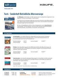 Facts - Sonderheft Betriebliche Altersvorsorge - Haufe Fachmedia