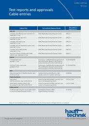 Pruefbericht und Zulassung Kabeldurchführung - hauff technik