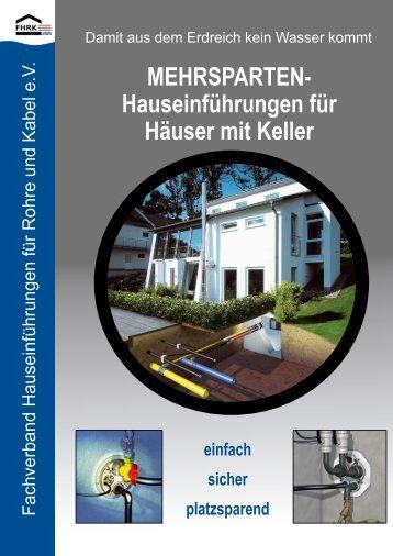FHRK Hauseinführungen für Gebäude ohne Keller - hauff technik