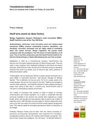 Press release Hauff wins award as ideas factory - hauff technik