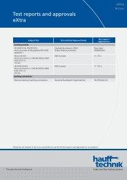 Pruefbericht und Zulassung Extra - hauff technik