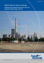 RWE Kraftwerk Hamm-Uentrop: - hauff technik