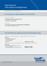 Internationale Pruefberichte und Zulassungen - hauff technik