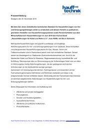 Pressemitteilung Gründung FHRK - hauff technik