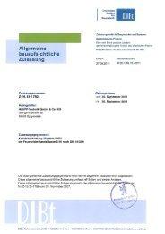 Allgemeine bauaufsichtliche Zulassung - Hauff-Technik
