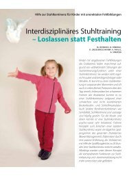 Interdisziplinäres Stuhltraining - Hauner Journal