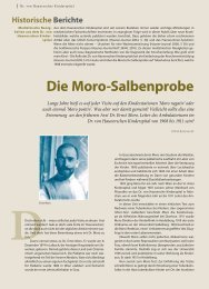 Die moro-Salbenprobe - Hauner Journal