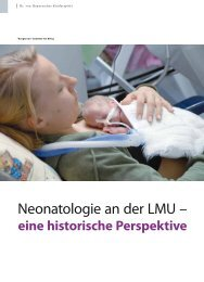 Neonatologie an der LMU – - Hauner Journal