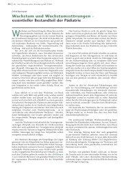 Wachstum und Wachstumsstörungen ... - Hauner Journal