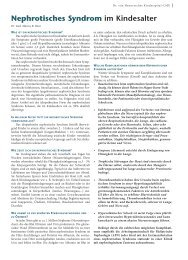 Nephrotisches Syndrom im Kindesalter - Hauner Journal