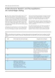 Evidenzbasierte Medizin und Neuropädiatrie – ein ... - Hauner Journal
