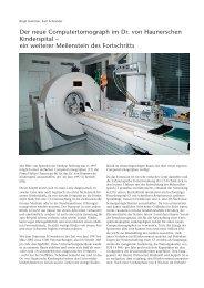 1 Der neue Computertomograph im Dr. von ... - Hauner Journal